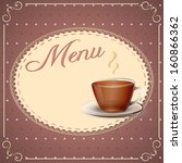 vector illustration menu card... | Shutterstock .eps vector #160866362