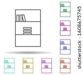 bookshelf multi color style...