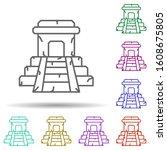 chiichen itza  temple multi...