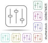 volume control multi color icon....