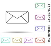closed envelope multi color...