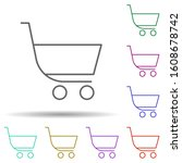 shopping sign multi color icon. ...