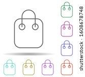 shopping bag multi color icon....