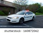 White American Police Sedan...