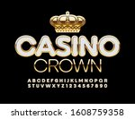 vector elite logo casino crown... | Shutterstock .eps vector #1608759358