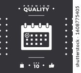 calendar icon with check mark.... | Shutterstock .eps vector #1608775405