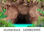 landcape of the cave at the... | Shutterstock .eps vector #1608823405