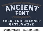 ancient alphabet font....   Shutterstock .eps vector #1608853888