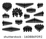 people group icons. big crowd...   Shutterstock .eps vector #1608869392