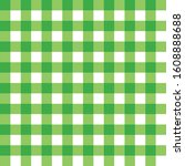 green gingham seamless pattern ... | Shutterstock .eps vector #1608888688