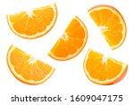 Collection Orange Slice Falling ...