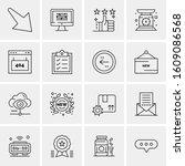 16 universal business icons...   Shutterstock .eps vector #1609086568