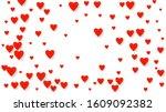 valentines heart cart. love... | Shutterstock .eps vector #1609092382