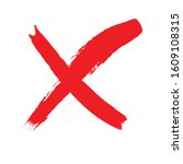 x marks .two red crossed vector ... | Shutterstock .eps vector #1609108315