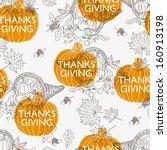 seamless thanksgiving  pattern. ... | Shutterstock . vector #160913198