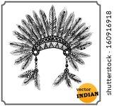 native american indian... | Shutterstock .eps vector #160916918