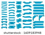 ribbon banners  template labels ... | Shutterstock .eps vector #1609183948