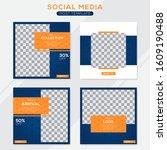 set modern square editable... | Shutterstock .eps vector #1609190488