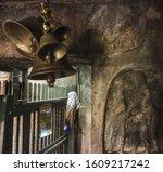 Temple Bells Inside A Dark Hal...