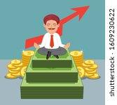 indian businessman meditating...   Shutterstock .eps vector #1609230622