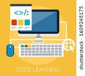 web and app development...   Shutterstock .eps vector #1609245175