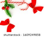 new year background red... | Shutterstock . vector #1609249858
