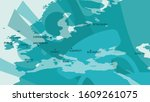 abstract poster of map europe...   Shutterstock .eps vector #1609261075