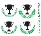 green realistic set of circular ... | Shutterstock .eps vector #1609262608
