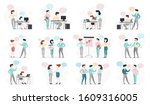 business people character set.... | Shutterstock . vector #1609316005