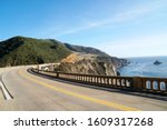 landscape of bixby creek bridge ... | Shutterstock . vector #1609317268