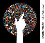 communication in the global... | Shutterstock .eps vector #160933262