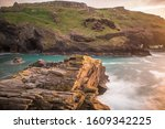 The Ruins Of Tintagel Castle On ...