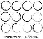 grunge circles | Shutterstock .eps vector #160940402