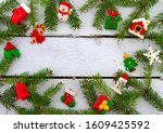 isolated branches of christmas... | Shutterstock . vector #1609425592