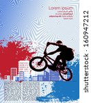 vector image of bmx cyclist | Shutterstock .eps vector #160947212