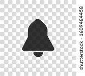 black bell icon. black symbol...