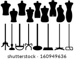 set of different tailor's... | Shutterstock .eps vector #160949636