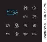 love icons set. gay couple and... | Shutterstock . vector #1609514098