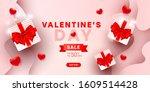 valentines sale vector banner...   Shutterstock .eps vector #1609514428