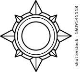 compass rose  line art icon