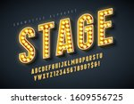 retro cinema font design ... | Shutterstock .eps vector #1609556725