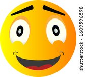 smile yellow face vector happy...