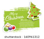 christmas grunge background | Shutterstock .eps vector #160961312