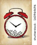 broken time template   suitable ... | Shutterstock . vector #160964696