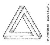 penrose impossible tribar... | Shutterstock .eps vector #1609651342