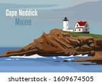 The Cape Neddick Light In Cape...