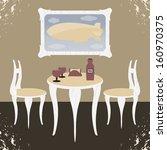 illustration dining room | Shutterstock .eps vector #160970375