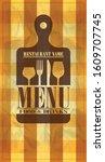 retro paper menu food and...   Shutterstock .eps vector #1609707745