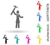 businesswoman  hammer multi...