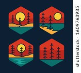 simple logo badge nature design ... | Shutterstock .eps vector #1609763935